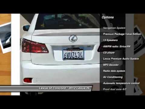 2012 lexus is 250 4d sedan at lexus of concord in concord for sale