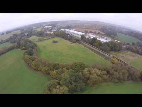 Paramotor flight past Bluebell railway, Sheffield Trust