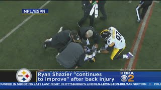 """Shazier """"Continues To Improve"""" After Suffering Back Injury"""