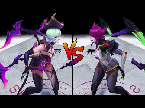 Bewitching Elise vs Super Galaxy Elise Skin Comparison Spotlight (League of Legends)