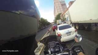 British motorbikers get stopped by police in New York City
