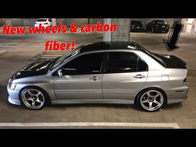 my-evo-9-gets-a-makeover-in-1-week-new-wheels-carbon-fiber