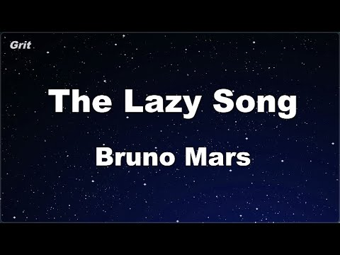 Karaoke♬ The Lazy Song - Bruno Mars 【No Guide Melody】 Instrumental