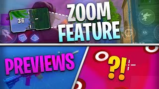 Fortnite Mobile News | Zoom Feature, Preview Items, Aim Trainer for Mobile, AND MORE!