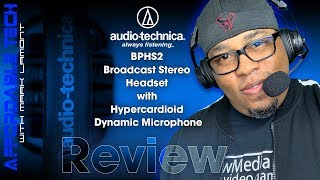 Audio-Technica BPHS2 Broadcast Stereo Headset with Hypercardioid Dynamic Boom Microphone Review 2019