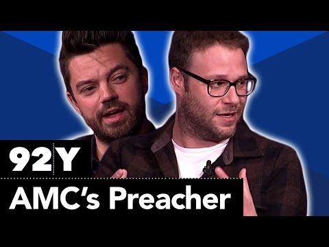 AMC's Preacher: Seth Rogen, Sam Catlin, Garth Ennis, Dominic Cooper, Joseph Gilgun and Ruth Negga