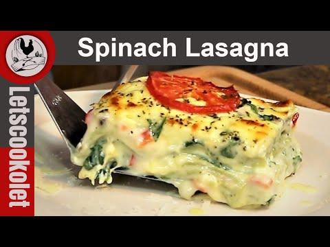 Spinach Lasagna \ Cheesy Creamy Lasagna\ Vegetarian Lasagna