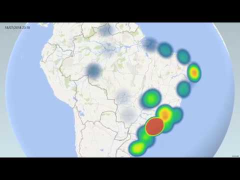 IoT, AI, Geolocation, Data Visualization - With Heat Map