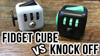 Authentic Fidget Cube vs Knock-Off : Unbox and Review