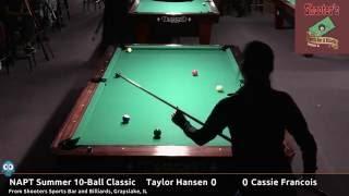 Taylor Hansen vs Cassie Francois - NAPT 2016 Summer 10-Ball Classic