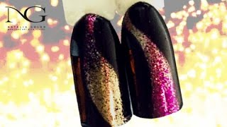 Праздничный экспресс маникюр с блестками / Festive express manicure with glitter