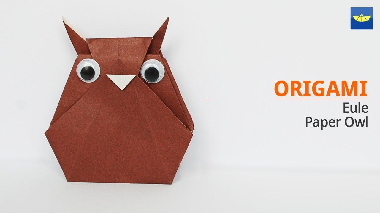 Origami Tiere Eule - Origami animals Owl 부엉이 종이접기 - Bastelideen für Kinder  -Basteln mit Papier