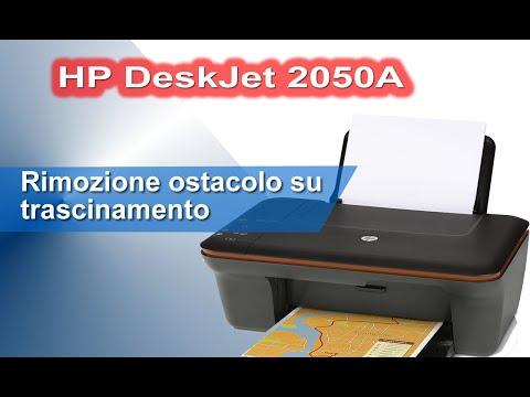 HP DeskJet 2050A non trascina - smontaggio e rimozione ostacolo dal percorso carta
