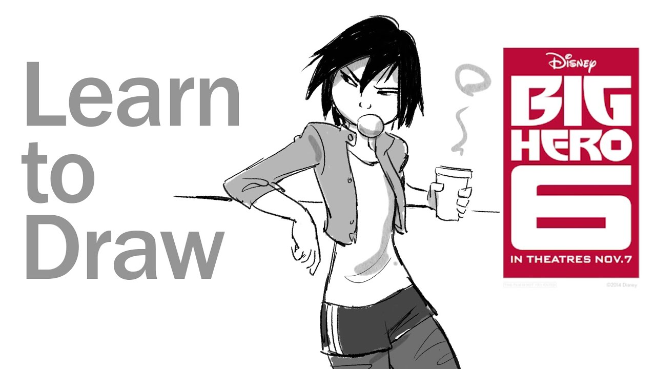 How To Draw GoGo Tomago From Big Hero 6