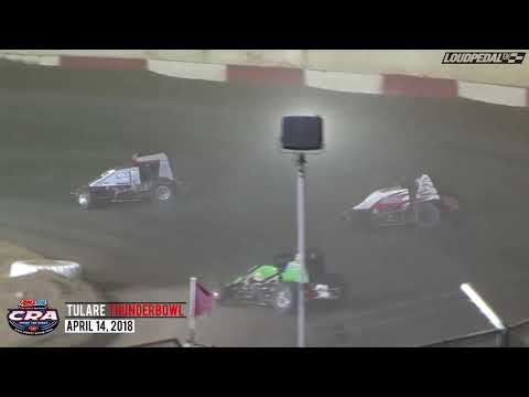 USAC/CRA Sprint Feature Highlights | Tulare Thunderbowl Raceway 4.14.18