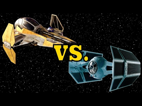 anakin s eta 2 actis class interceptor vs vader s tie advanced x1