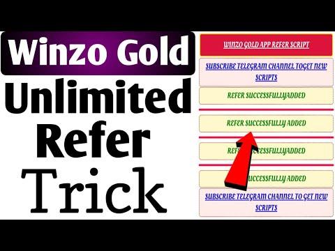 Winzo Gold Mod Apk,App | Winzo Gold Refer Bypass Script | Winzo Gold  Unlimited Refer Trick