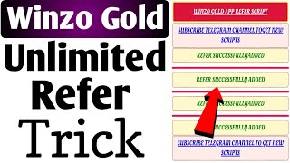 Winzo Gold Mod Apk,App | Winzo Gold Refer Bypass Script | Winzo Gold Unlimited Refer Trick