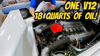 The Ridiculous 18 Quart Lamborghini Countach Oil Change