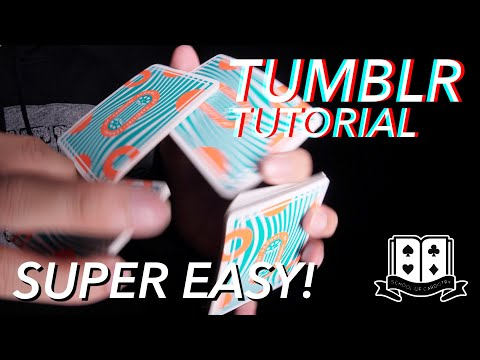 Cardistry for Beginners: Two-handed Cuts - Tumblr Cut Tutorial
