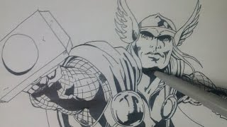 How to Draw Thor - Marvel Comic | The Avenger: Age of Ultron