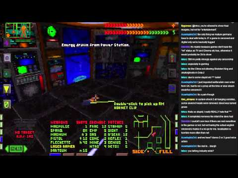 System Shock 1 played by developers WITH COMMENTS - part 1