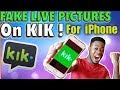 How To Send Fake Live Camera Picture on kik for IPHONE!!! (NO JAILBREAK) 2019