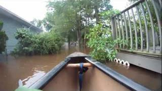 Canoeing Hurricane Irene in Oakland, NJ.