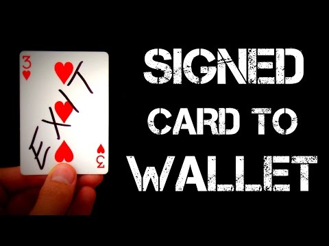 Signed Card To Wallet Revealed! | Card Trick Tutorial