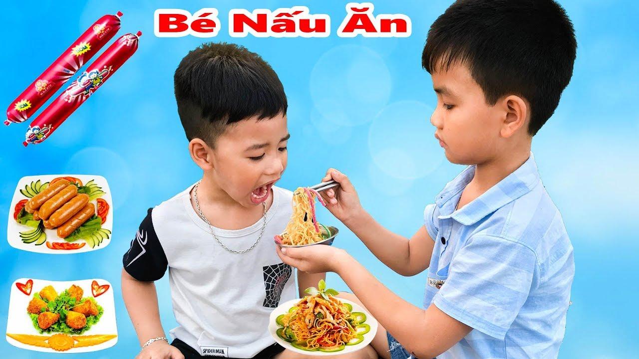 Bữa Cơm Cho Bé ♥ Min Min TV Minh Khoa ♥ Đồ Chơi Nấu ăn