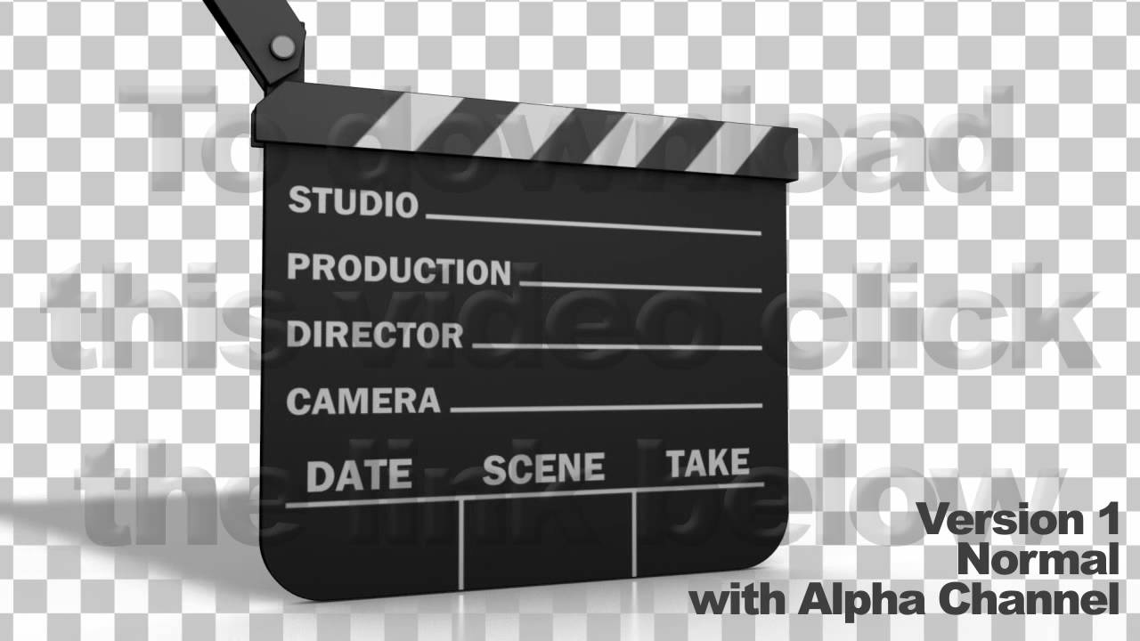 movie clapper board series of 3 + alpha & ae file - youtube, Powerpoint templates