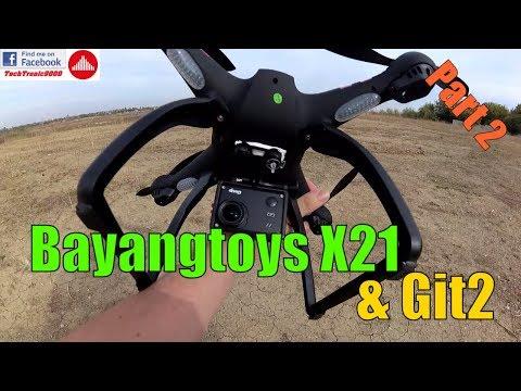 Bayangtoys X21 Dual GPS Camera Drone - Flight Test with Git2 Camera