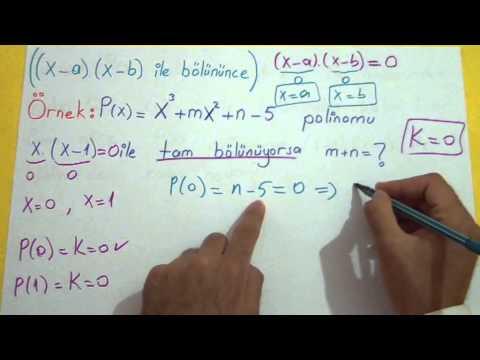 Polinomlar 4 Şenol Hoca Matematik