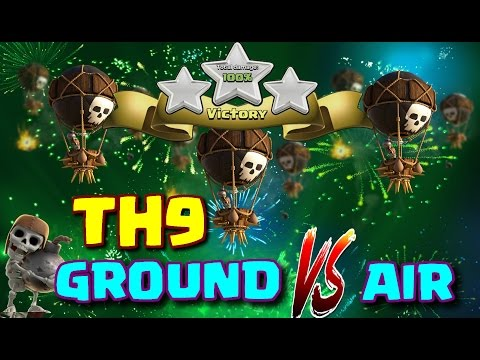 TH9 War Strategy -GoVaLoons Raid ✮ Hero 26/25 ✮Clash Of Clans