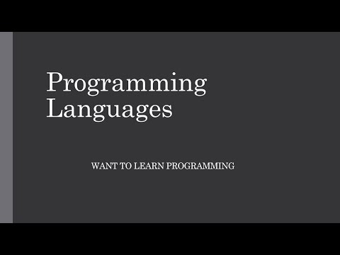 Introduction to Computer Programming 2: Programming Languages