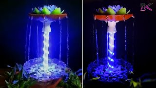 How to make Terracotta fountain with Plastic Pipe and LED light | Very easy