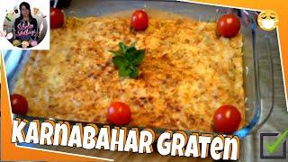 (Yemek) Fırında Karnıbahar Graten Tarifi Nasıl yapılır ? Sibelin mutfağı ile yemek tarifleri