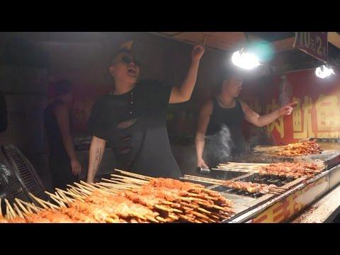 深圳 東門 '串燒哥' Skewer in Food Street Dongmen  Shenzhen China