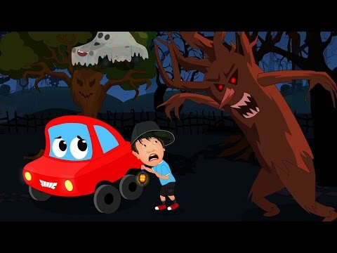 Little Red Car In The Scary Woods   Car Rhymes And Songs