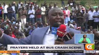 Prayers held at bus crash scene in Fort Ternan