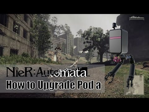 Nier Automata Upgrading Pod A From Level One To Max Level