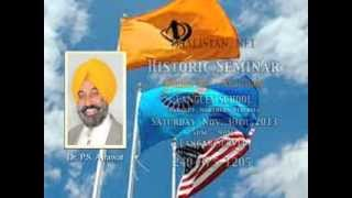 Sikh Holocaust & Reclamation of Lost Sikh Geopolitical Sovereignty-Seminar  Nov 30, 2013