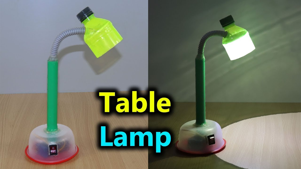 How to Make Table Lamp at Home । Easy And Simple । 2019