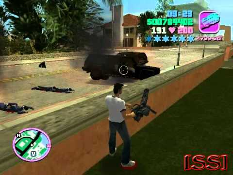 gta vice city how to steal a tank rhino youtube