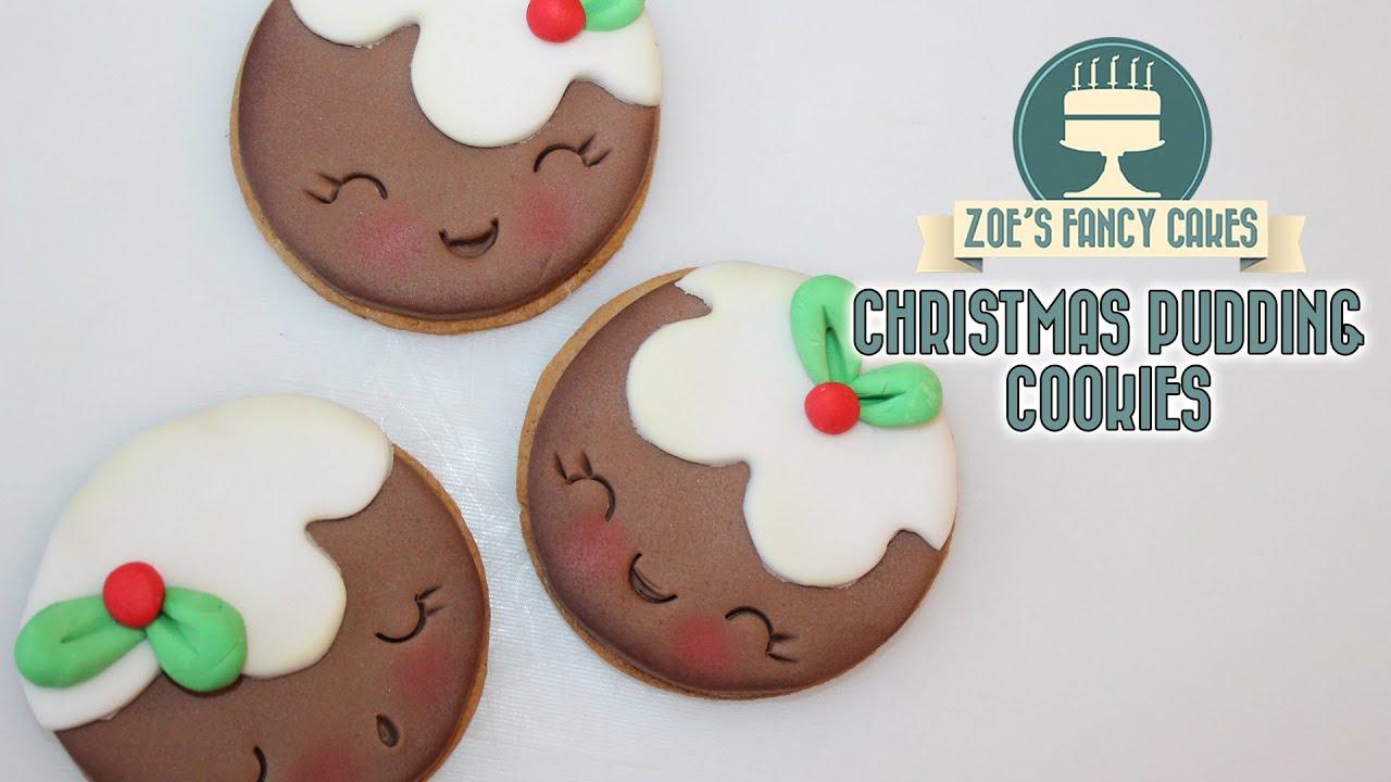 Christmas Pudding Cookies Shopkins Inspired