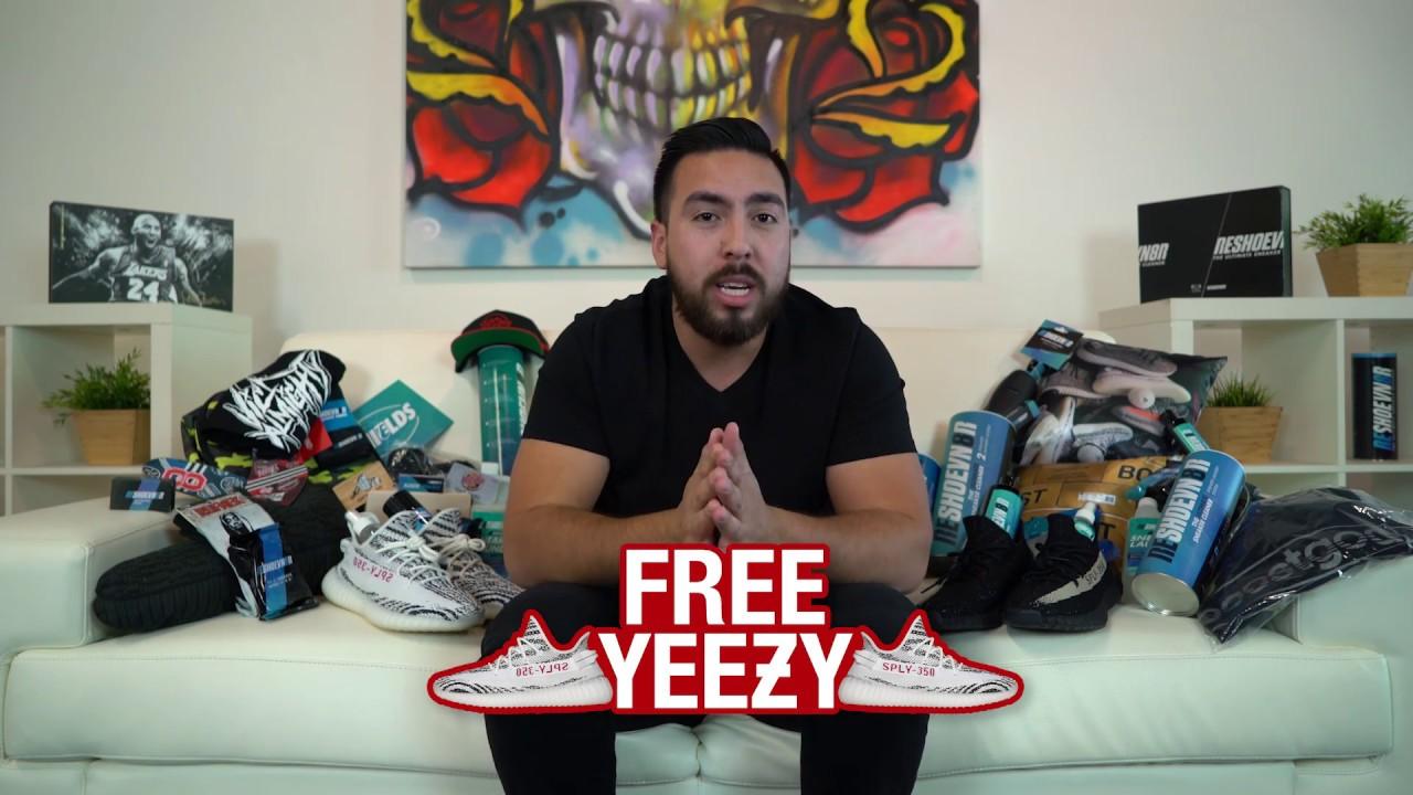 904110ac34f32 Free Yeezy Zebra Giveaway!! - YouTube
