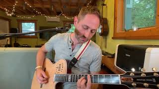 Godin Multiac Steel Natural HG Demo with Line 6 Helix and Acoustic IR