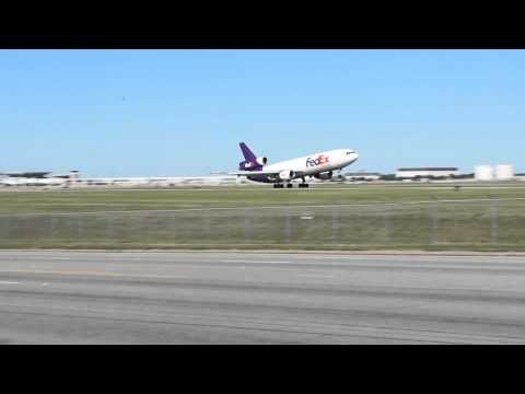 Fedex MD-10-30 Takeoff Memphis International Airport