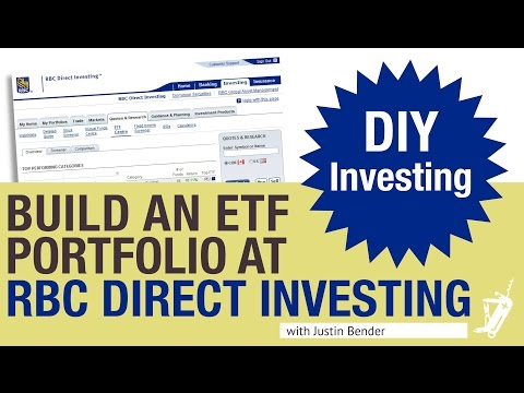 How to build an ETF Portfolio at RBC Direct Investing