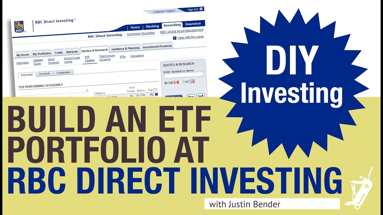How To Build An Etf Portfolio At Rbc Direct Investing Youtube